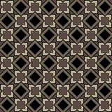 Άνευ ραφής σχέδιο των τετραγώνων και των διαμαντιών στα καφετιά χρώματα Στοκ φωτογραφία με δικαίωμα ελεύθερης χρήσης