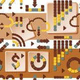 Άνευ ραφής σχέδιο των χρωματισμένων σημαδιών διάνυσμα Στοκ Εικόνες