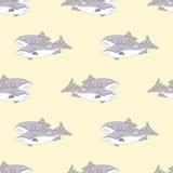 Άνευ ραφής σχέδιο των ψαριών Στοκ Εικόνα