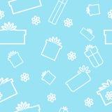 Άνευ ραφής σχέδιο των δώρων και των κιβωτίων Στοκ Εικόνες
