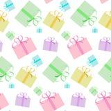 Άνευ ραφής σχέδιο των δώρων Στοκ φωτογραφία με δικαίωμα ελεύθερης χρήσης