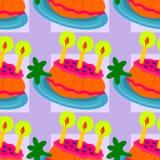 Άνευ ραφής σχέδιο υποβάθρου κέικ καρότων κινούμενων σχεδίων Στοκ Εικόνες
