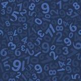 Άνευ ραφής σχέδιο υποβάθρου με τους αριθμούς διάνυσμα Στοκ Εικόνες
