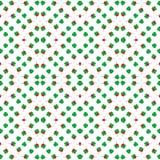 Άνευ ραφής σχέδιο υποβάθρου τριφυλλιών με το κόκκινο φύλλο καρδιών, ημέρα Αγίου Πάτρικ Στοκ Εικόνες