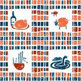 Άνευ ραφής σχέδιο υφάσματος καρό, σκωτσέζικο σύνολο διανυσματική απεικόνιση
