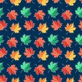 Άνευ ραφής σχέδιο φθινοπώρου με τα φύλλα σφενδάμου Διανυσματική ανασκόπηση διανυσματική απεικόνιση