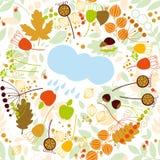 Άνευ ραφής σχέδιο, φθινόπωρο, βροχή Στοκ Φωτογραφία