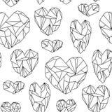 Άνευ ραφής σχέδιο φιαγμένο από καρδιά-διαμορφωμένα μετάλλευμα κρύσταλλα απεικόνιση αποθεμάτων