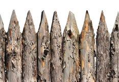 Άνευ ραφής σχέδιο φρακτών φρακτών ξύλινο που απομονώνεται στο άσπρο υπόβαθρο Στοκ Φωτογραφίες