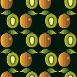 Άνευ ραφής σχέδιο φρούτων ακτινίδιων ελεύθερη απεικόνιση δικαιώματος
