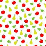 Άνευ ραφής σχέδιο φρούτων Στοκ Φωτογραφίες