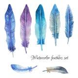 Άνευ ραφής σχέδιο φτερών Watercolor Στοκ φωτογραφία με δικαίωμα ελεύθερης χρήσης