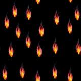 Άνευ ραφής σχέδιο φλογών πυρκαγιάς Στοκ Εικόνες