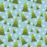 Άνευ ραφής σχέδιο χειμερινών δέντρων. Στοκ Εικόνες