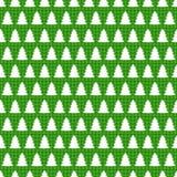 Άνευ ραφής σχέδιο Χριστουγέννων με το χριστουγεννιάτικο δέντρο Στοκ εικόνα με δικαίωμα ελεύθερης χρήσης