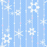 Άνευ ραφής σχέδιο Χριστουγέννων με snowflakes το υπόβαθρο Στοκ φωτογραφία με δικαίωμα ελεύθερης χρήσης