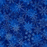 Άνευ ραφής σχέδιο Χριστουγέννων με Snowflakes Στοκ Εικόνα