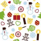 Άνευ ραφής σχέδιο Χριστουγέννων Στοκ Εικόνα