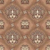 Άνευ ραφής σχέδιο χρώματος από τα διακοσμητικά στοιχεία βασισμένα στα κίνητρα του αμερικανού ιθαγενούς Ινδός τέχνης ελεύθερη απεικόνιση δικαιώματος