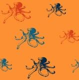 Άνευ ραφής σχέδιο χταποδιών Στοκ φωτογραφία με δικαίωμα ελεύθερης χρήσης