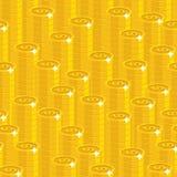 Άνευ ραφής σχέδιο ύφους δολαρίων σωρών χρυσό Στοκ φωτογραφία με δικαίωμα ελεύθερης χρήσης