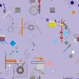 Άνευ ραφής σχέδιο Architectura Στοκ Εικόνα