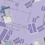 Άνευ ραφής σχέδιο Architectura Στοκ φωτογραφία με δικαίωμα ελεύθερης χρήσης