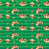 Άνευ ραφής σχέδιο Croissant Στοκ εικόνα με δικαίωμα ελεύθερης χρήσης