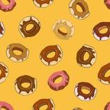 Άνευ ραφής σχέδιο Donuts Στοκ φωτογραφία με δικαίωμα ελεύθερης χρήσης