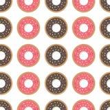 Άνευ ραφής σχέδιο Donuts Στοκ εικόνα με δικαίωμα ελεύθερης χρήσης