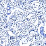 Άνευ ραφής σχέδιο Doodle για την ινδική ημέρα της ανεξαρτησίας Στοκ εικόνα με δικαίωμα ελεύθερης χρήσης