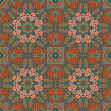 Άνευ ραφής σχέδιο doodle Ζωηρόχρωμη floral στρογγυλή διακόσμηση Στοκ φωτογραφία με δικαίωμα ελεύθερης χρήσης