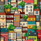 Άνευ ραφής σχέδιο Favela Στοκ Εικόνες