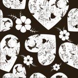 Άνευ ραφής σχέδιο grunge από τις καρδιές Στοκ φωτογραφία με δικαίωμα ελεύθερης χρήσης