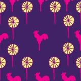 Άνευ ραφής σχέδιο lollipops Στοκ Φωτογραφία