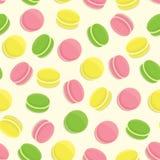Άνευ ραφής σχέδιο Macarons Στοκ Εικόνες