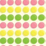 Άνευ ραφής σχέδιο Macarons Στοκ φωτογραφίες με δικαίωμα ελεύθερης χρήσης