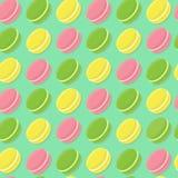 Άνευ ραφής σχέδιο Macarons Στοκ εικόνες με δικαίωμα ελεύθερης χρήσης