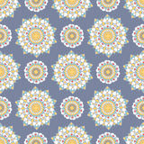 Άνευ ραφής σχέδιο Mandala Στοκ φωτογραφία με δικαίωμα ελεύθερης χρήσης