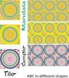 Άνευ ραφής σχέδιο Mandalas Εκλεκτής ποιότητας διακοσμητικά στοιχεία με το mand Στοκ φωτογραφία με δικαίωμα ελεύθερης χρήσης
