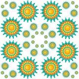 Άνευ ραφής σχέδιο Mandalas Στοκ Εικόνες