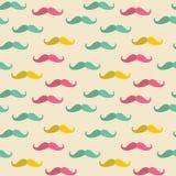 Άνευ ραφής σχέδιο mustache Στοκ φωτογραφία με δικαίωμα ελεύθερης χρήσης