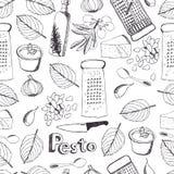 Άνευ ραφής σχέδιο Pesto Στοκ εικόνα με δικαίωμα ελεύθερης χρήσης