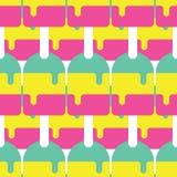 Άνευ ραφής σχέδιο Popsicle, διάνυσμα καραμελών, σχέδιο καραμελών, διάνυσμα Popsicle Στοκ φωτογραφία με δικαίωμα ελεύθερης χρήσης
