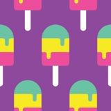 Άνευ ραφής σχέδιο Popsicle Στοκ φωτογραφίες με δικαίωμα ελεύθερης χρήσης