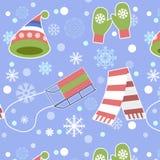 Άνευ ραφής σχέδιο - Snowflake, διάνυσμα, χιόνι, υπόβαθρα, χιόνι διανυσματική απεικόνιση