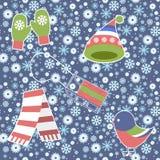 Άνευ ραφής σχέδιο - Snowflake, διάνυσμα, χιόνι, υπόβαθρα, χιόνι Στοκ Εικόνες
