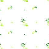 Άνευ ραφής σχέδιο Watercolor Απλό συρμένο χέρι υπόβαθρο άνοιξη Πράσινος βγάζει φύλλα και διακλαδίζεται EPS διάνυσμα im Στοκ Εικόνα