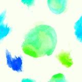 Άνευ ραφής σχέδιο Watercolor με τα σημεία Στοκ Εικόνα