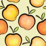 Άνευ ραφής σχέδιο watercolor της Apple Juicy κεραμωμένο φρούτα υπόβαθρο Στοκ Εικόνες